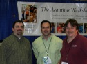 WoodExpo 2012. Photo by Dyami Plotke. L to R: me, Mike McCoy, Chuck Bender