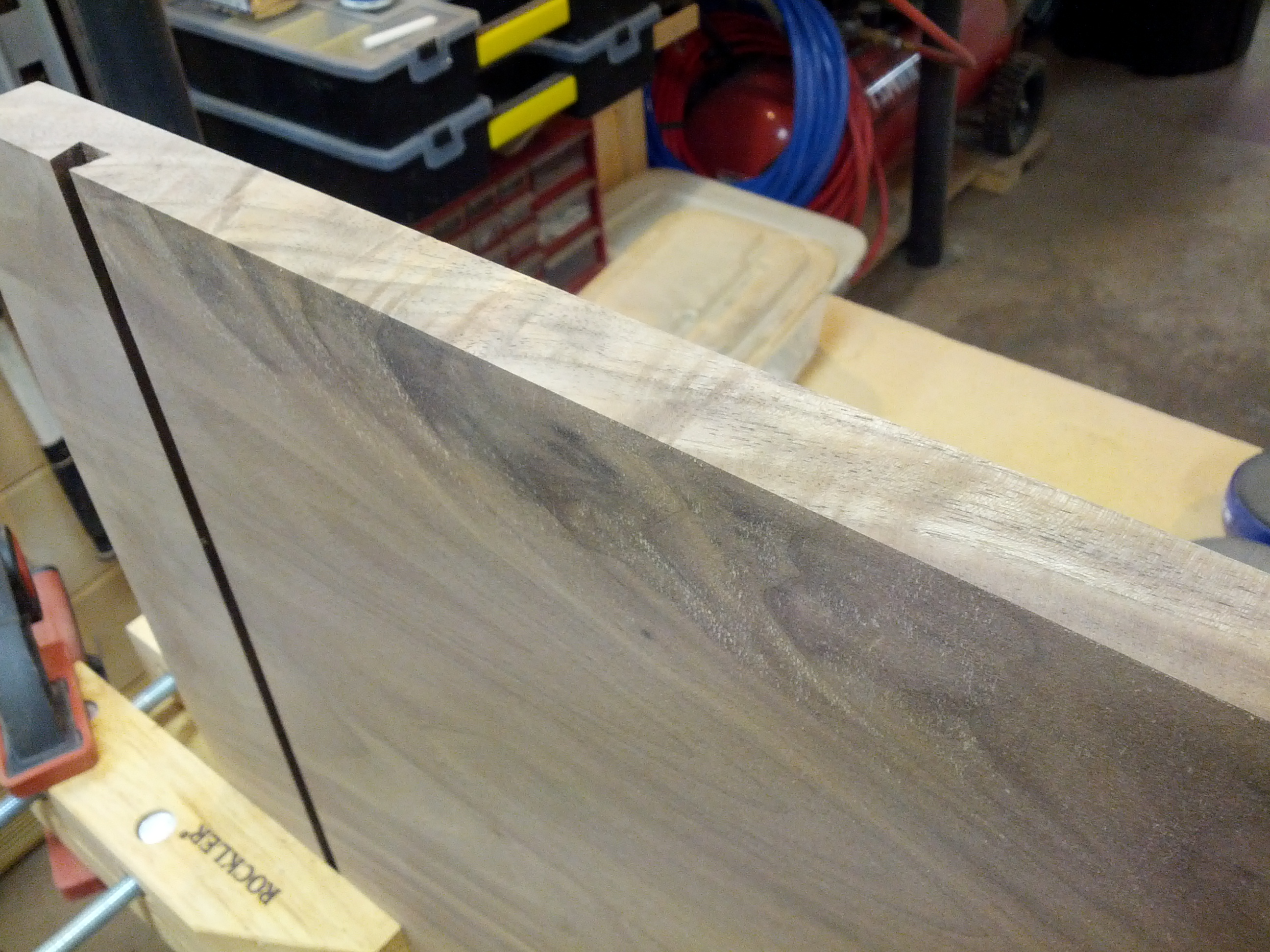 how to clean up wood without a jointer