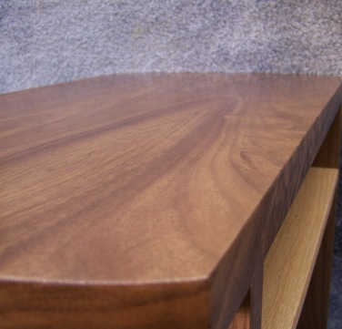 Low angle view of the table top.